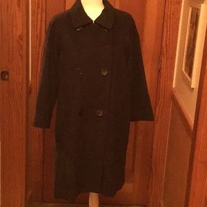 Black full length winter coat